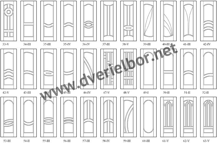 Узкая фрезеровка дверей Эльбор